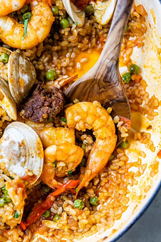 Home.fit Weeknight-Paella-8 Weeknight Clam and Shrimp Seafood Paella