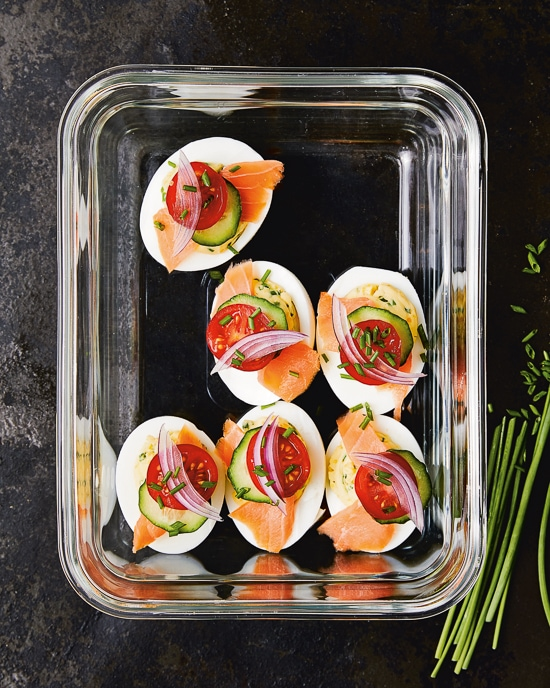 Deviled Eggs with Lox