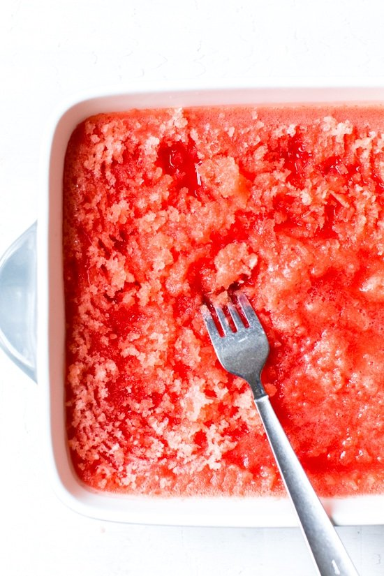 This Boozy Watermelon Lime Granita is part cocktail, part dessert. The perfect, frozen adult treat for hot summer days.