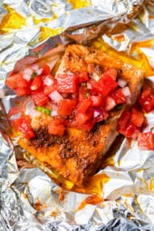 foil packet salmon with watermelon salsa