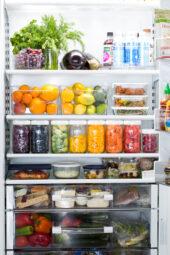 organized refrigerator photo