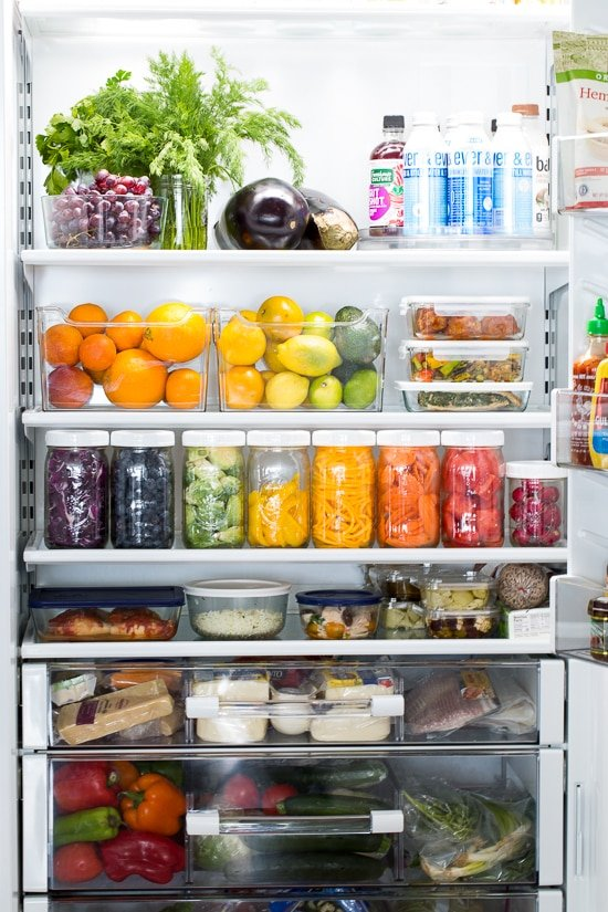 organized refrigerator photo