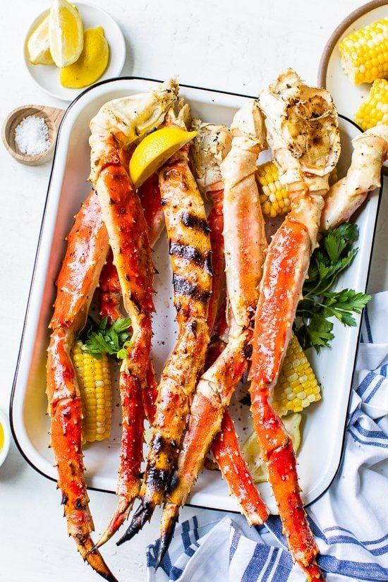 Grilled Crab Legs is such a treat in the summer, this foolproof recipe is so easy and works with king crab legs, Dungeness crab legs and snow crab legs!