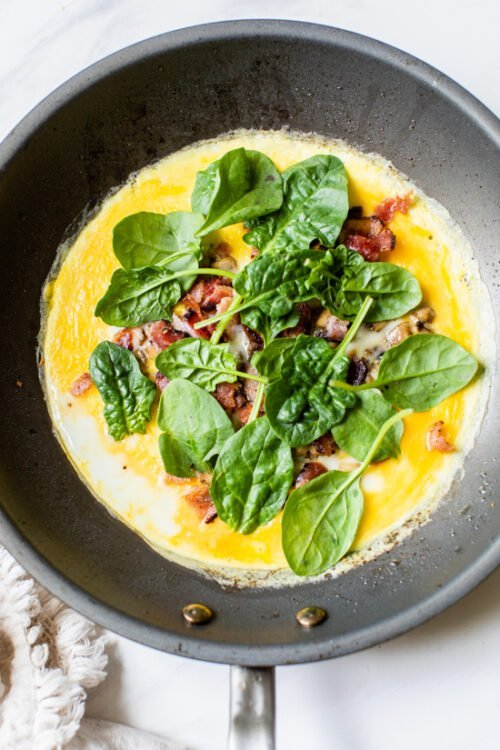 Spinach and Mushroomo Omelet Wrap-2