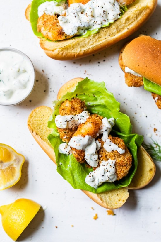 Air Fryer Shrimp Sandwiches