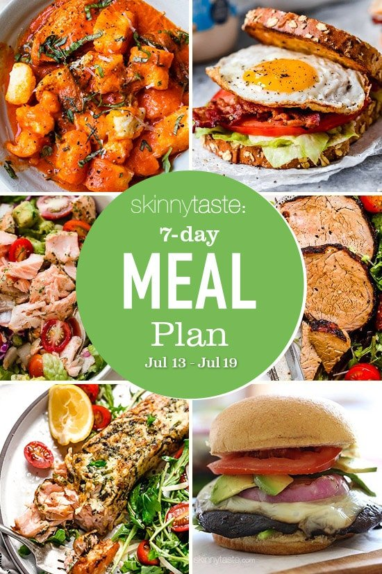 Photo of 7 Day Healthy Meal Plan (July 13-19)
