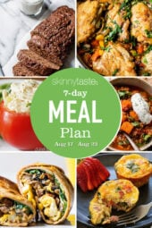 collage of images for 7 Day Healthy Meal Plan (Aug 17-23)