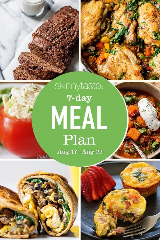 7 Day Healthy Meal Plan (Aug 17-23)