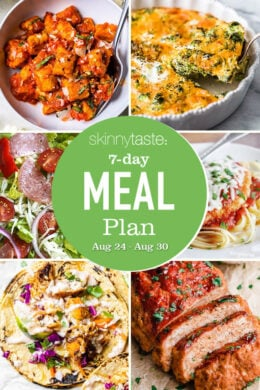 7 Day Healthy Meal Plan (Aug 24-30) collage