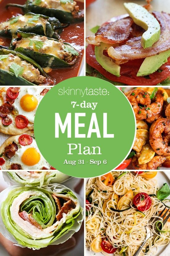 7 Day Healthy Meal Plan (Aug 31-Sept 6) collage