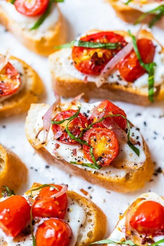 Whipped Ricotta Toast with Roasted Tomatoes