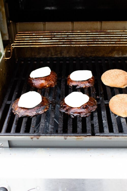 portobello mushrooms on the grill