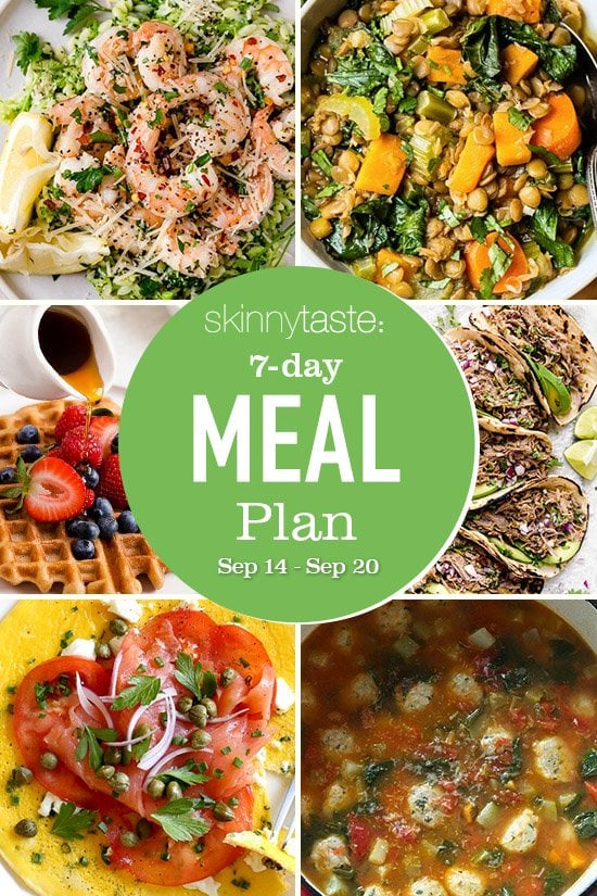7 Day Healthy Meal Plan (Sept 14-20)