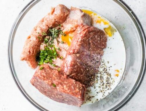raw meatloaf ingredients