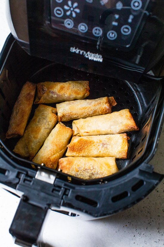 Pastrami Reuban Eggrolls in the air fryer.