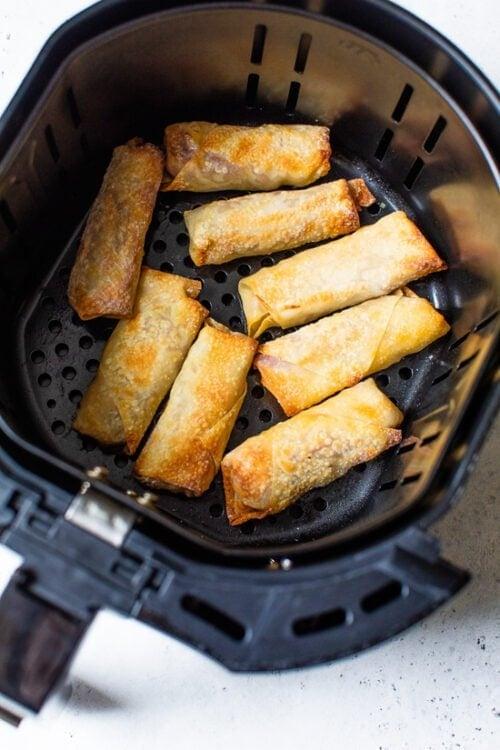 Pastrami Reuban Eggrolls in the air fryer.