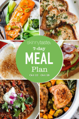 7 Day Healthy Meal Plan (Oct 12-18)