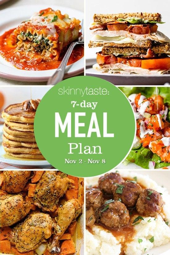 Plan de alimentación saludable de 7 días (del 2 al 8 de noviembre)