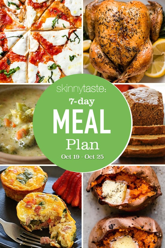 7 Day Healthy Meal Plan (Oct 19-25)