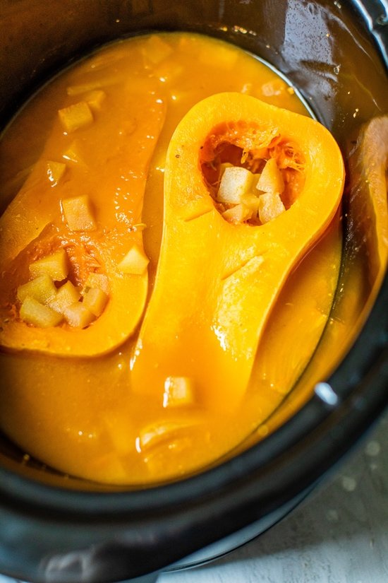Slow Cooker Butternut Pear Soup