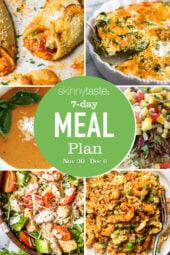 7 Day Healthy Meal Plan (Nov 30-Dec 6)