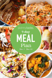 7 Day Healthy Meal Plan (Dec 7-13)