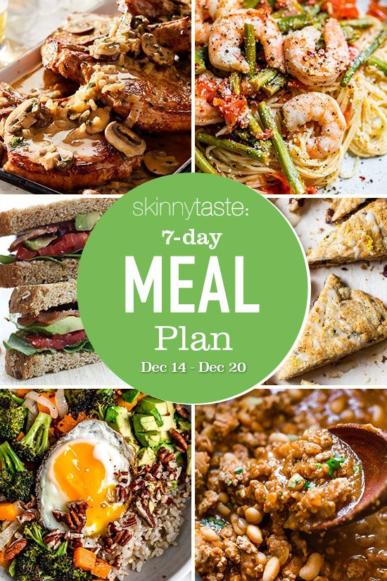 7 Day Healthy Meal Plan (Dec 14-20)