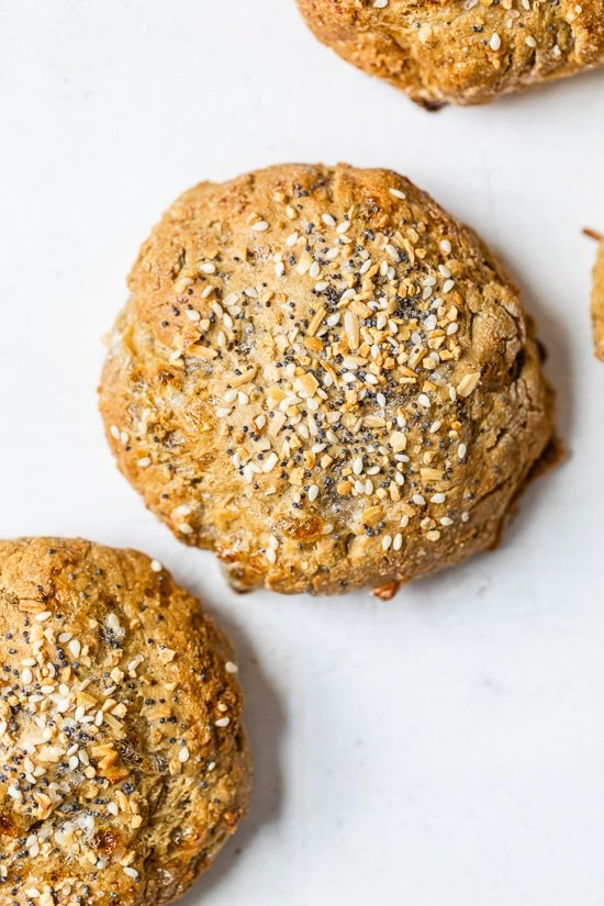 High Protein Oat Rolls with Everything Bagel Seasoning