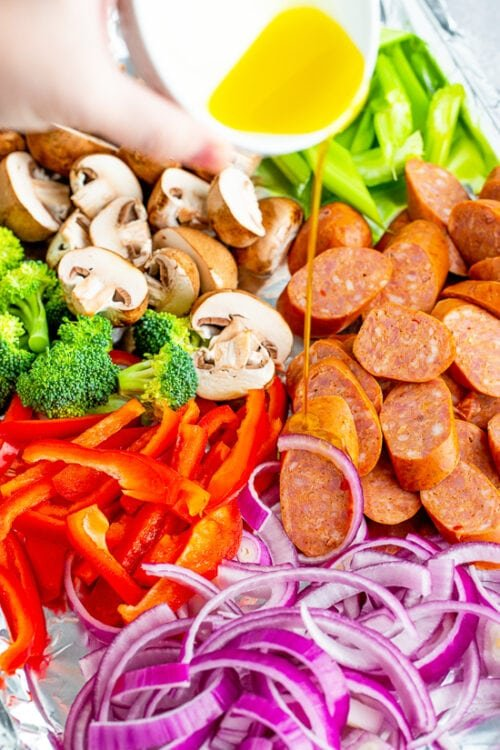Andouille and Veggies on a Sheet Pan