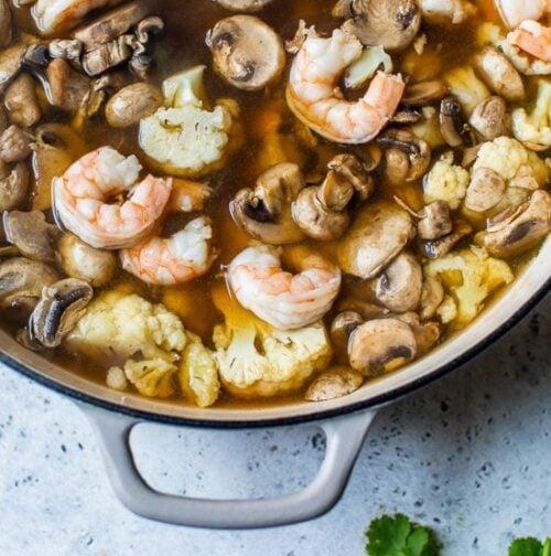 shrimp and veggie pho