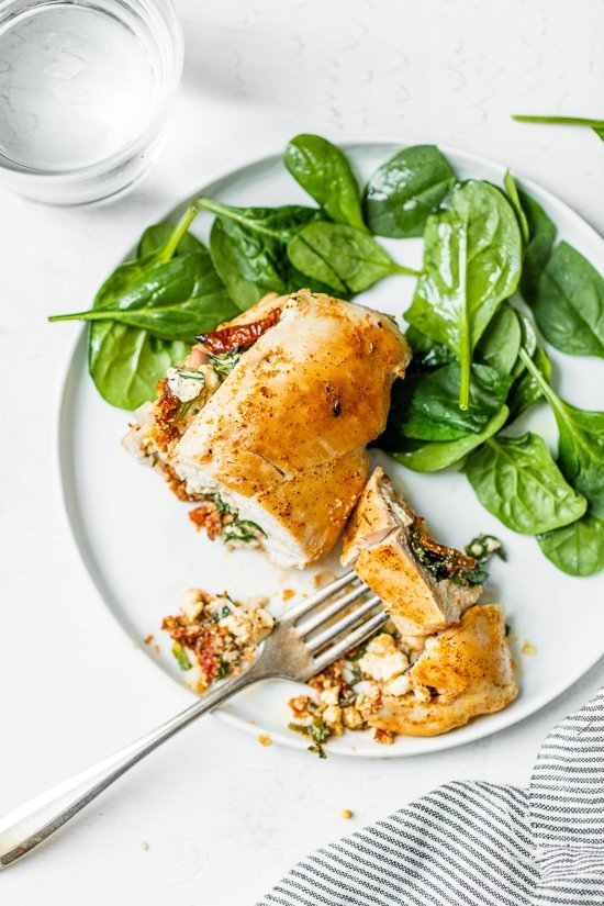 spianch stuffed chicken breast