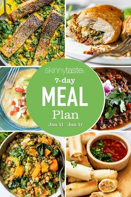 Plan de comidas saludables de 7 días (11-17 de enero)