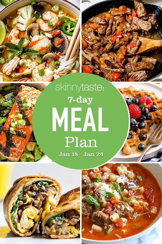 7 Day Healthy Meal Plan (Jan 18-24)
