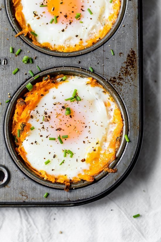 sweet potato egg nest