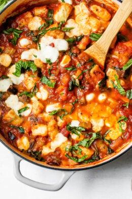 Cheesy Eggplant Gnocchi Caprese