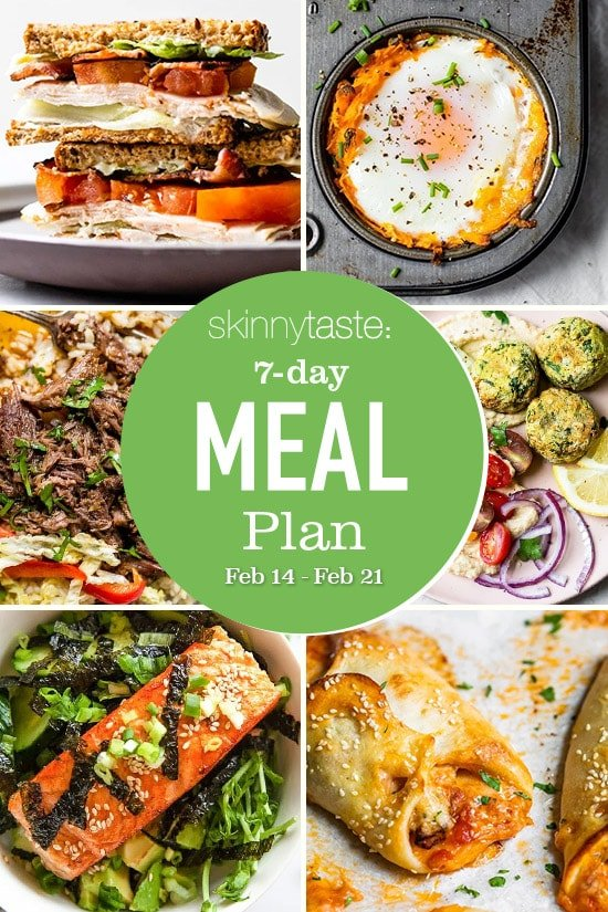 Plan de comidas saludables de 7 días (15-21 de febrero)