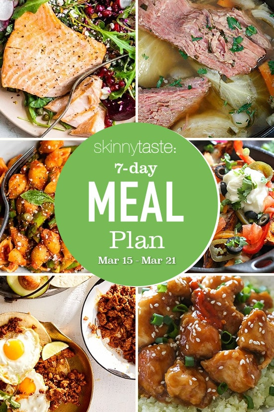 7 Day Healthy Meal Plan (March 15-21)