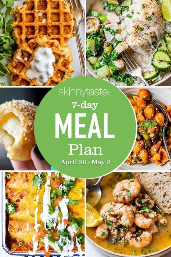 Plan de alimentación saludable de 7 días (del 26 de abril al 2 de mayo)