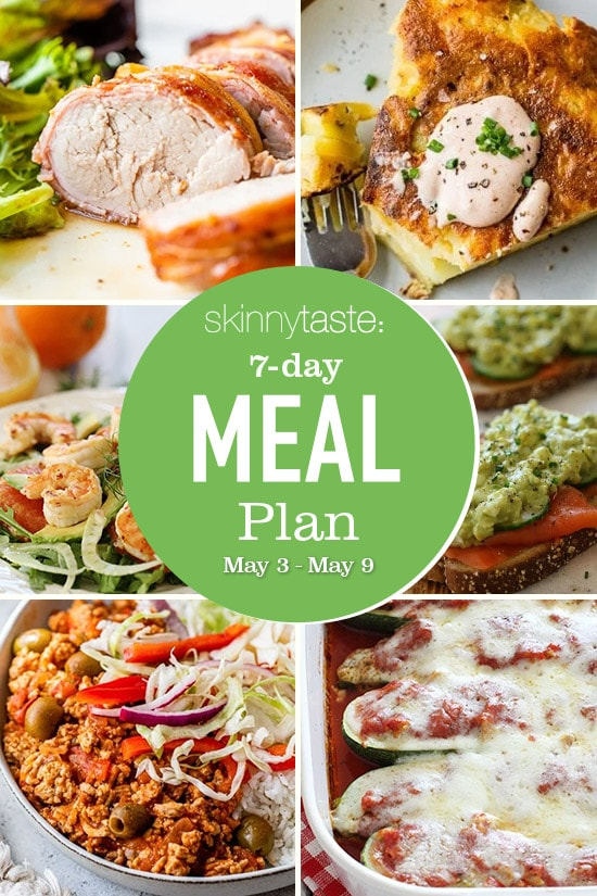 7 Day Healthy Meal Plan (May 3-9)
