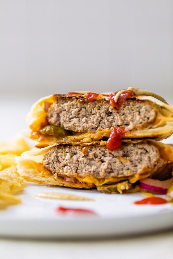 Turkey Cheeseburger Crunch Wrap