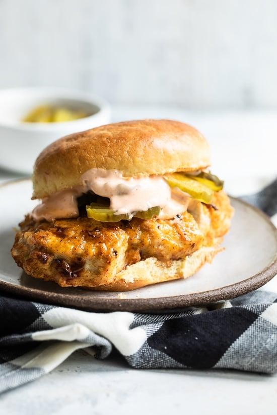 Air Fryer Chicken Sandwich