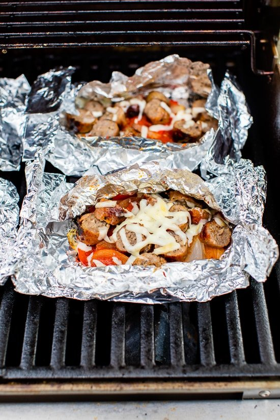 foil packet dinner on the grill
