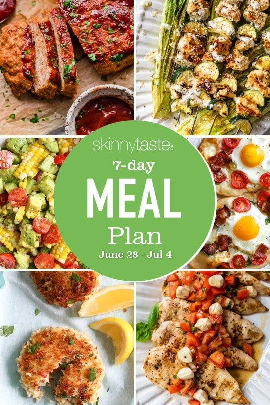 7 Day Healthy Meal Plan (June 28-July 4)