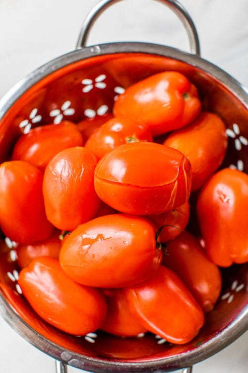 Garden Tomato Sauce in a pot.