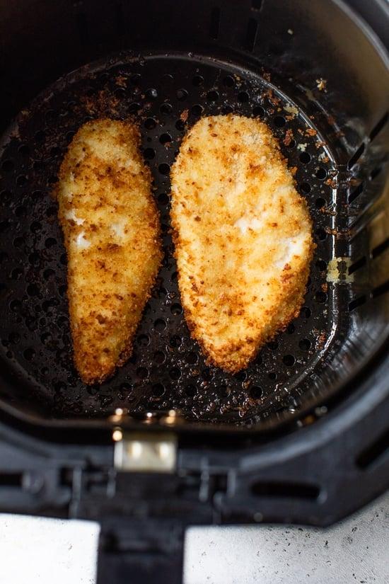 air fryer chicken milanese