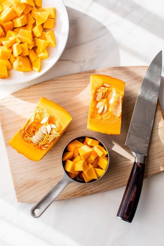 cut up squash