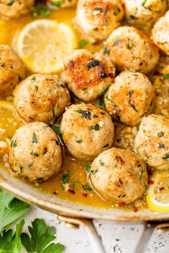 chicken meatballs with lemon